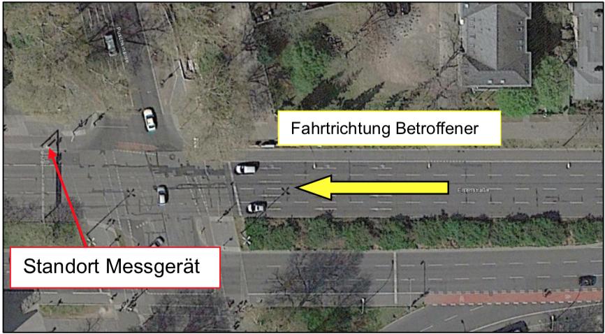 Rotlichtverstoß rote Ampel Elsenstraße